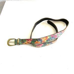 FLORAL sparkly boho belt size M